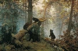 "Иван Шишкин. ""Утро в сосновом лесу"".1889г."